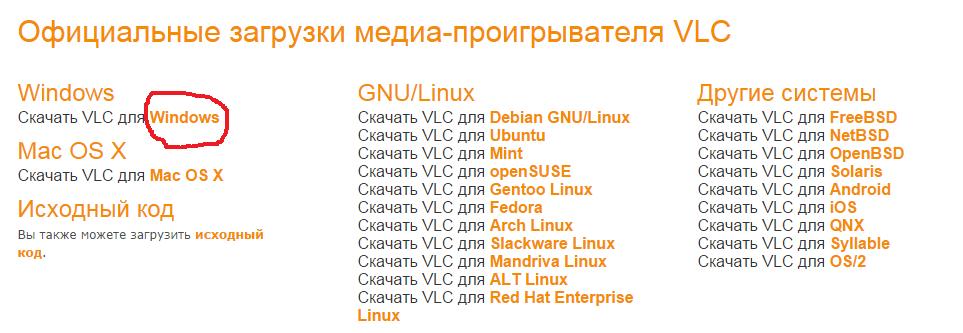 Официальные загрузки медиа-проигрывателя VLC