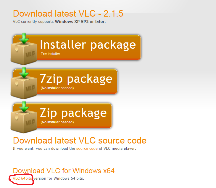 vlc 64 bits windows 7